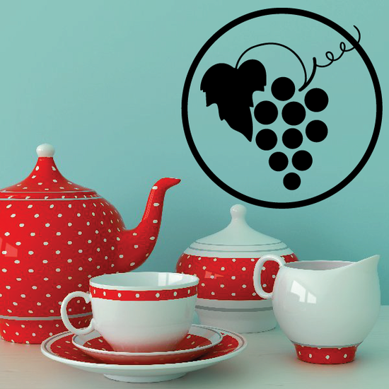 Wine Grapes Decal