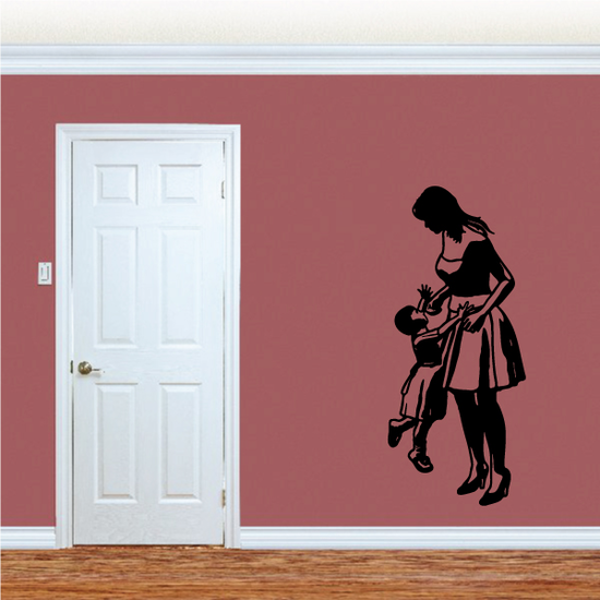 Mom Lifting Daughter Mothers Day Decal