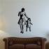 Mom Walking With Daughter Mothers Day Wall Decal - Vinyl Decal - Car Decal - 007