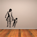 Strolling Mother and Son Mothers Day Decal