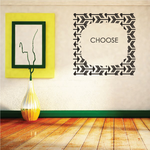 Choose Arrow Fram Wall Decal