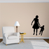 Strolling Mother and Son Mothers Day Silhouette Decal