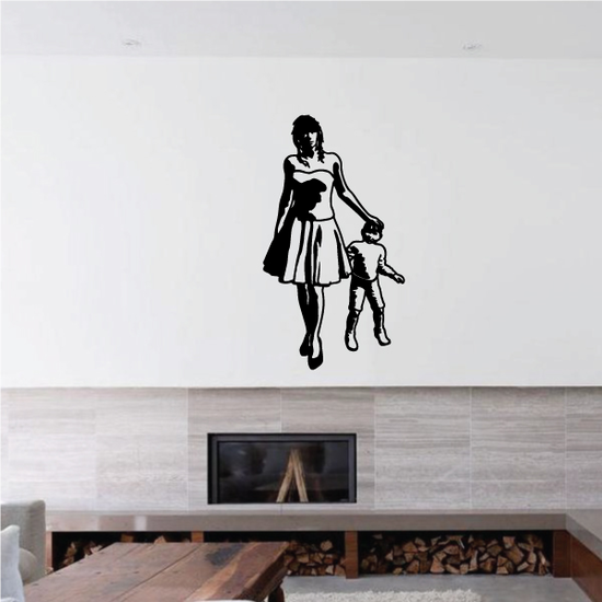 Mother Patting Son Mothers Day Decal