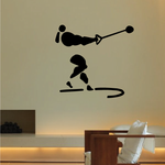 Track and field Wall Decal - Vinyl Decal - Car Decal - Bl053