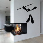 Track and field Wall Decal - Vinyl Decal - Car Decal - Bl054
