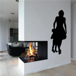 Mom Talking to Son Mothers Day Silhouette Decal