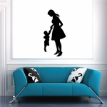 Mom And Son Holding Hands Silhouette Mothers Day Decal