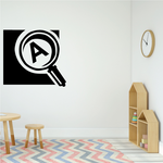 Magnifying Glass Decal