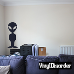 Simple Alien Standing Decal