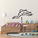 Track and field Wall Decal - Vinyl Decal - Car Decal - Bl068
