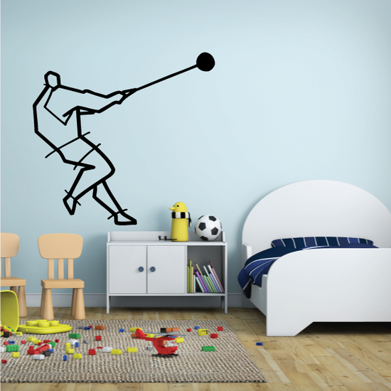 Track and field Wall Decal - Vinyl Decal - Car Decal - Bl074