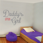 Daddys Little Girl Wall Decal