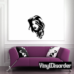 Flowing Hair Woman Decal