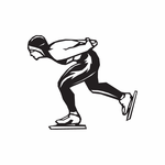 Ice Skating Sports Wall Decal - Vinyl Decal - Car Decal - DC 012