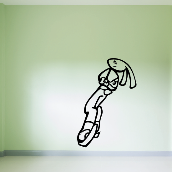 Bunny Figure Skating Wall Decal - Vinyl Decal - Car Decal - CDS0002
