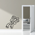 Bunny Figure Skating Wall Decal - Vinyl Decal - Car Decal - CDS0003