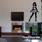 Woman in Lingerie with Whip Decal