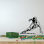Ice Skating Wall Decal - Vinyl Decal - Car Decal - CDS0024