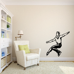 Ice Skating Wall Decal - Vinyl Decal - Car Decal - SM003