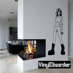 Shy Woman in Boots Decal