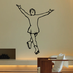 Ice Skating Wall Decal - Vinyl Decal - Car Decal - SM020