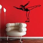 Ice Skating Wall Decal - Vinyl Decal - Car Decal - SM027
