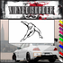 Ice Skating Wall Decal - Vinyl Decal - Car Decal - SM036