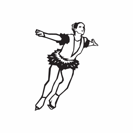 Figure Skating Wall Decal - Vinyl Decal - Car Decal - DC 007