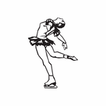 Figure Skating Wall Decal - Vinyl Decal - Car Decal - DC 015