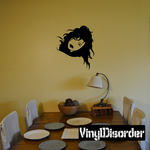 Leaning Woman Head Decal
