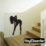Bent Over Stripper Silhouette Decal