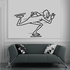 Ice skating Wall Decal - Vinyl Decal - Car Decal - Bl002