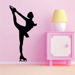 Ice skating Wall Decal - Vinyl Decal - Car Decal - Bl006