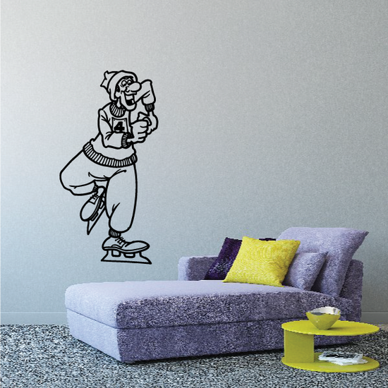 Ice skating Wall Decal - Vinyl Decal - Car Decal - Bl009