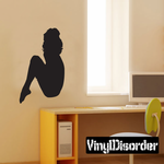 Sitting Woman Silhouette Decal