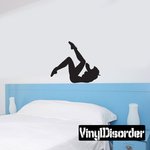 Playful Pinup Silhouette Decal