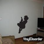 Sitting Woman with Gun Silhouette Decal