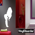 Woman with Long Hair Silhouette Decal