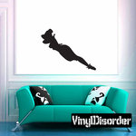 Tired Jester Girl Silhouette Decal