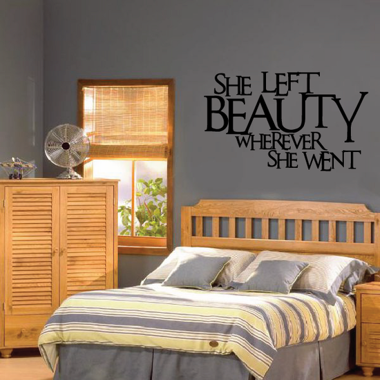 She left beauty wherever she went Wall Decal