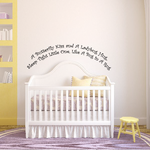 A butterfly kiss and a ladybug hug Sleep tight little one like a bug in a rug Wall Decal