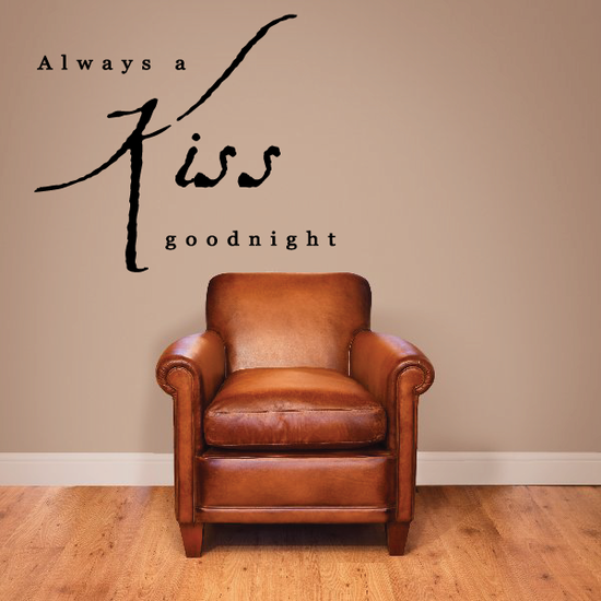Always a Kiss Goodnight Wall Decal