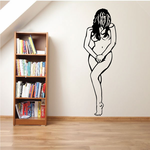 Nude Woman Covering Decal