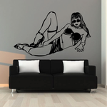 Reclining Woman in Sarong and Heels Decal