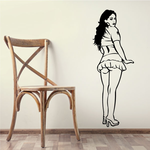 Short Skirt Woman Decal