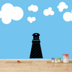 Classic Lighthouse Decal