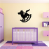 Toy Rocking Horse Wall Decal - Vinyl Decal - Car Decal - NS001