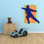 Ice Skating Wall Decal - Vinyl Sticker - Car Sticker - Die Cut Sticker - CDScolor0049