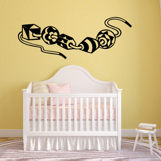 Beads Wall Decal - Vinyl Decal - Car Decal - MC02