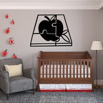 Apple Puzzle Wall Decal - Vinyl Decal - Car Decal - MC15